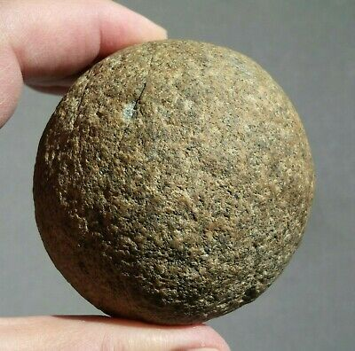 "Authentic Indian Artifacts Big 3"" Stone Game Ball Ohio Native American Arrowhead"