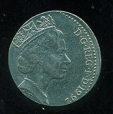 1992 UK Great Britain 10 Pence Struck on Foreign Planchet AU Error Coin