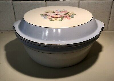Orchid covered casserole dish