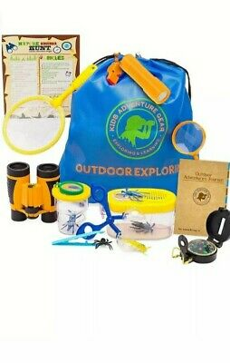 Outdoor Adventure Kit Kids- Bug Catching Explorer Glass- Catcher Net and more