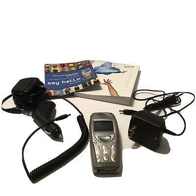 Vintage Collector Nokia 3587i RH-44 Cell Phone - 3 Chargers & User Guide Manual