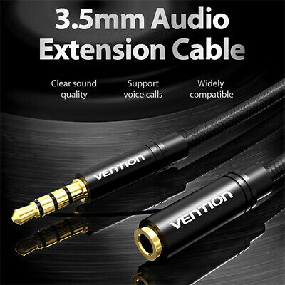 3.5mm male to 3.5mm female Jack Audio Extension Cable 4 pole support mic