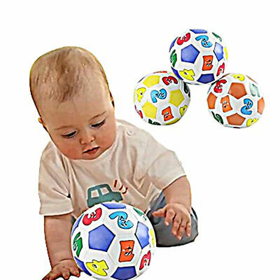 Baby Colorful Learning Number Soccer Balls Kid Soft Educational Rubber Ball Toy