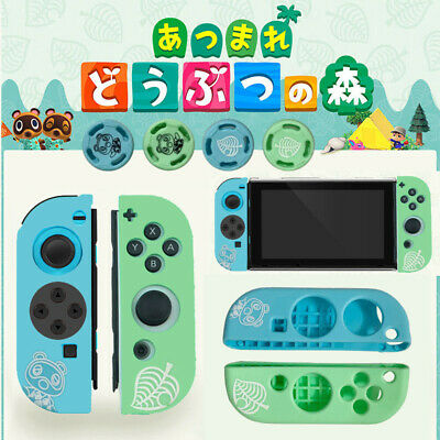 For Switch Joy-Con Animal Crossing Game Controller Silicone Case Thumb Grip Caps