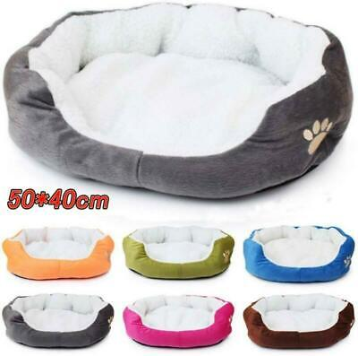 Pet Dog Cat Deluxe Warm Soft Washable Warm Basket Bed Cushion with Fleece Lining