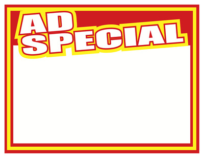 "Ad Special Sale Price Signs-11"" x 8.5""- 50 pcs Retail-Store"