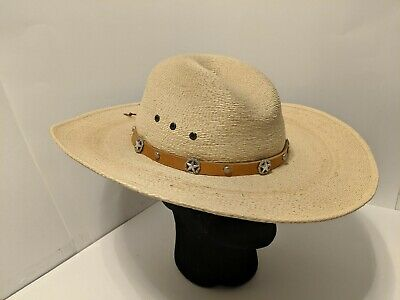 "TEXAS 35-O5 Toasted Palm GUS ~ 5/"" Brim ~COWBOY HAT~ Western ~ Durable Straw"