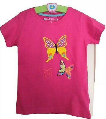 Mountain warehouse girls 5-6 Butterfly Print Tshirt. Excellent Condition Hardly