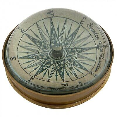 Kompass Wasser Maritim Navigation Schiff Paperweight  Messing  Antik-Stil Replik