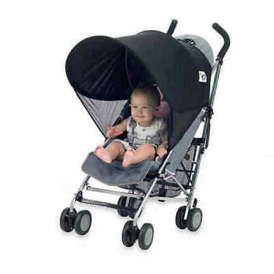 Protect-a-Bub UPF 50+ Compact Single Stroller Sunshade in Black