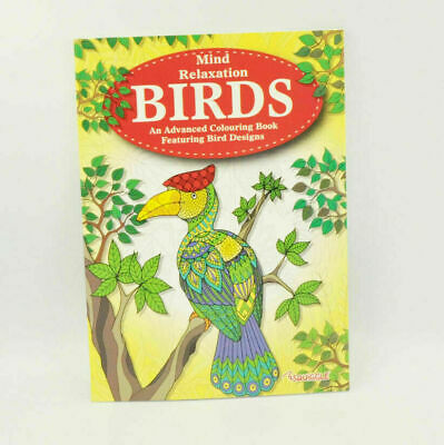Adult Animal/Birds Colouring Books Fun Paint Book Drawing Pads Stress Relief