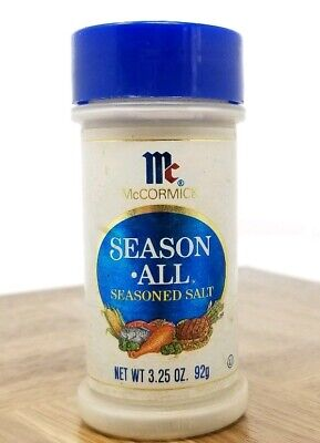 Vintage McCormick Season All Seasoned Salt Jar Bottle 1980s