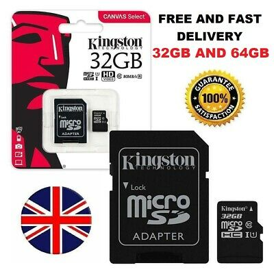 Kingston Micro SD SDHC memory Card Class 10 32GB 64GB Memory with CARD  Adapter