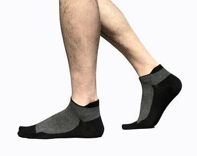 Mens 5pairs Cotton Sport Short Ankle Socks Casual Low Cut Non-Slip Breathable