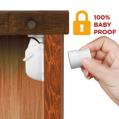 NEW Magnetic Safety Cupboard Lock Baby Child Pet Proof Drawer Security WF