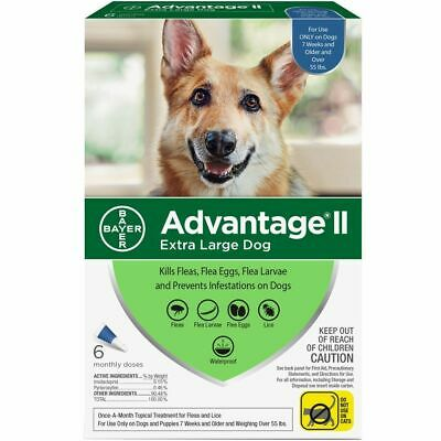 Advantage II Flea Control for Extra Large Dogs (Over 55 lbs) 6 Month