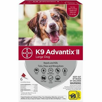 K9 Advantix II RED for Large Dogs (21-55 lbs) 6 Month