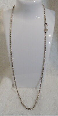 1.5~MM~ STERLING SILVER ~ ROPE CHAIN ~ ITALY~LOBSTER CLAW~ 20~IN~ 5.2 GR ~$14.88