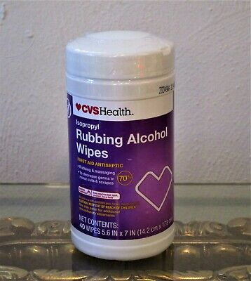 alkohol wipeys 40 count new sealed exp 02/2022