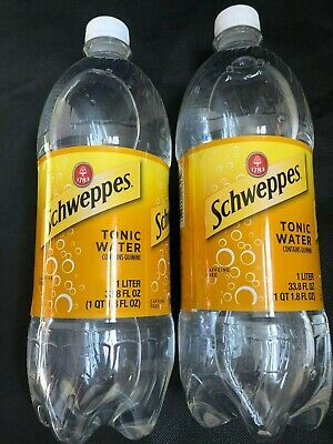 2-Pack Of Schweppes Tonic Water Caffeine Free 1 Liter Contains Quinine Fast Ship