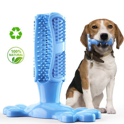 Dog Toothbrush Toy Clean Stick Teeth Chew Toy Pet Brushing Dental Care Silicone