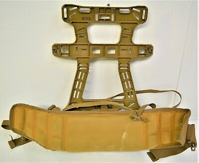 Used USMC MOLLE II Frame, Field Ruck Sack Coyote Brown With Padding LOOK!