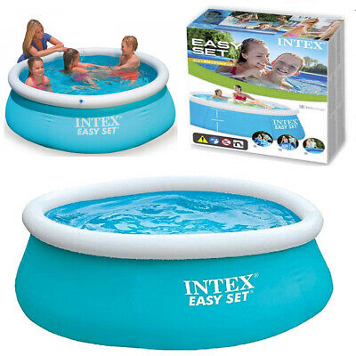 New Intex 6Ft Easy Set Kids Family Patio Garden Outdoor Paddling Swimming Pool