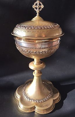 Antique French Silver Sterling Bronze Dore Chalice
