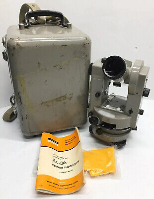 Vernier Theodolite No. 6170 Surveying Instrument, Includes Manual, Tool Kit, and