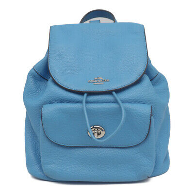 COACH Backpack · Daypack  F37621 leather blue SilverHardware