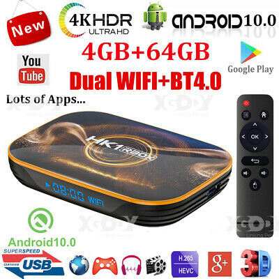 HK1 R1 4+64G Android 10.0 5G WIFI BT Smart TV BOX Quad Core RK3318 Media Player