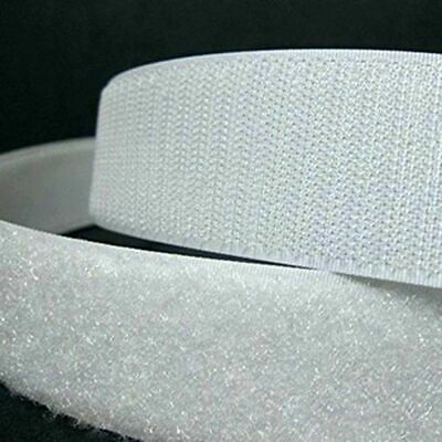 """Velcro® Brand 1"""" Wide White Hook and Loop - Sew On Type - 2 Yards  - Uncut"""