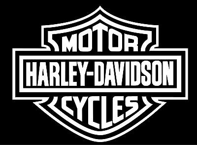 Harley Davidson Shield Sticker - Vinyl Decal -Choose Size/Color- FREE SHIPPING!!