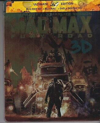 MAD MAX FURY ROAD  Blu-ray Steelbook 3D (French Import)