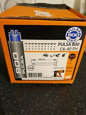 SPIT PULSA 800 NAILS & GAS 40mm C6-40FH NEW