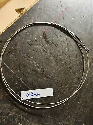 Spring Steel Wire,  Piano Wire 2 Mm Dia, X 1 Metre Coiled