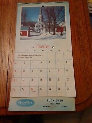 Vintage Lot Of four Wyoming Illinois  Advertising Calendars
