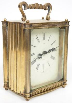 Rare English Smiths Carriage Clock Mechanical Wind Spares Or Repairs