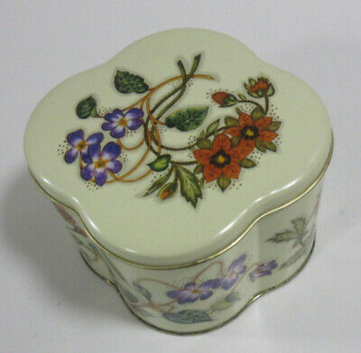 "Vintage The Tin Company Daher Made in England Flower Design (3.5""tallx4.5""wide)"
