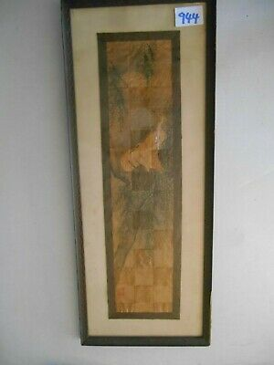 Japanese watercolor on silk paper pieces done early? 20th century