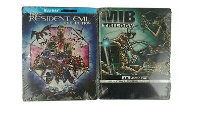 Resident Evil Complete Collection Blu-ray & Men in Black 4K + Blu-ray Steelbooks