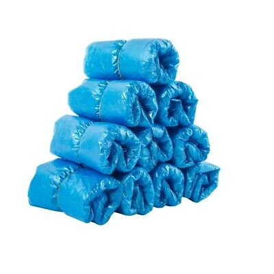 500Pcs Blue Disposable Plastic Waterproof Boot Cover Shoe Covers Overshoes