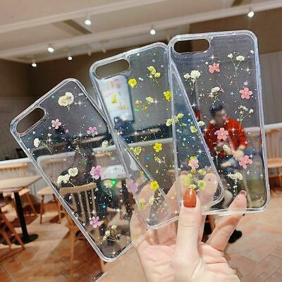 Real Dried Flower Clear Case Cover For iPhone SE 2020 11 Pro Max XS XR 7 8 Plus