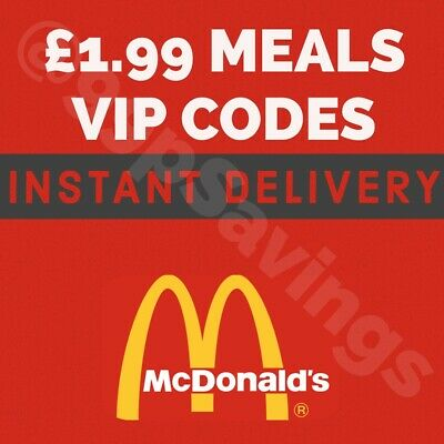 Mcdonalds Lifetime Discount Codes - Instant Delivery - Meals For £1.99!