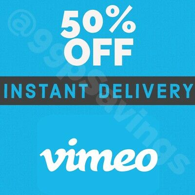 Vimeo Plus or Pro Subscription - 50% Discount Code  - INSTANT DELIVERY