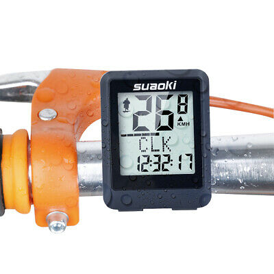 Wireless LCD Digital Bicycle Computer BicycleBike Backlight Speedometer Odometer