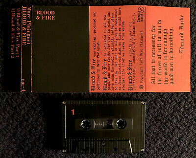🎶 MARC PLAINGUET Blood & Fire Demo Cassette New Age Synth Wave Dark Electronic