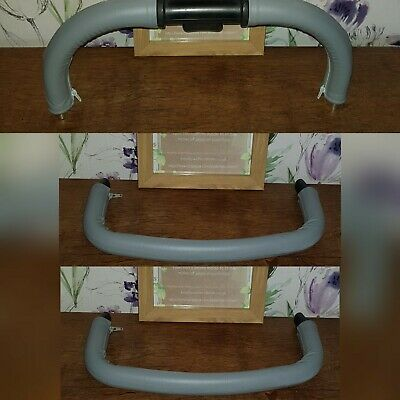 Icandy peach handle bar and 2 bumper bar COVERS ONLY in grey curved shape