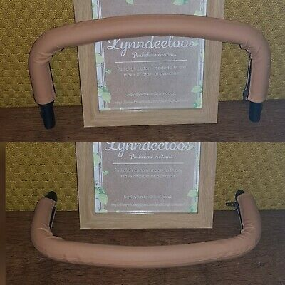 Icandy peach bumper bars x 2 COVERS ONLY in Tan faux leather