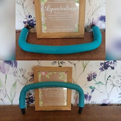 Icandy peach bumper bars x 2 COVERS ONLY in Teal Quilted faux leather